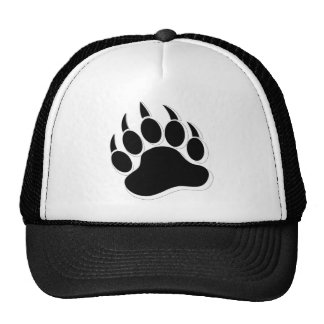 Awesome Gay Bear claw B&W 3D effect Cap