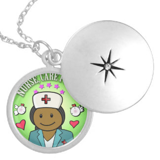 Awesome Gift Ideas Nursing Nurse for Care Me Round Locket Necklace