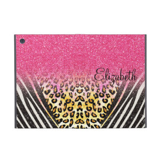 Awesome girly trendy leopard print, zebra stripes iPad mini cover