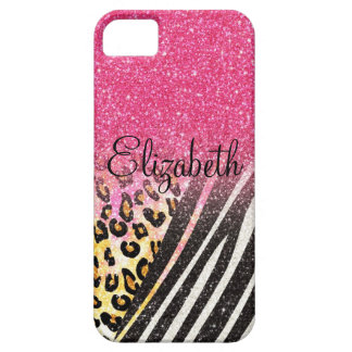 Awesome girly trendy leopard print, zebra stripes iPhone 5 cover