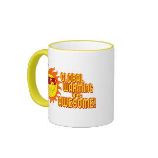 Awesome Global Warming Ringer Mug
