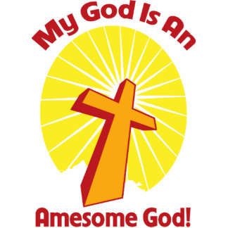 Awesome God Photo Sculpture Badge