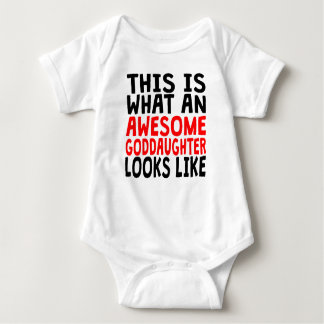 Awesome Goddaughter Baby Bodysuit