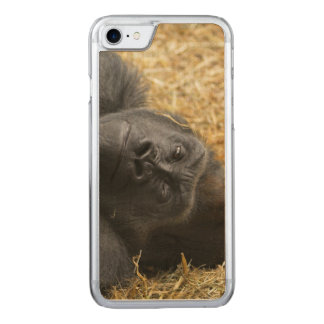 awesome Gorilla Carved iPhone 7 Case