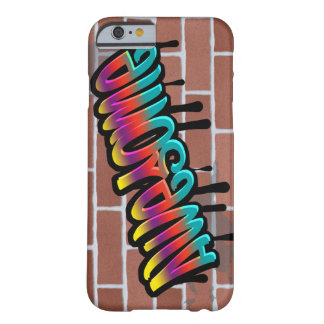 AWESOME graffiti art on brick wall Barely There iPhone 6 Case