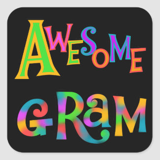 Awesome Gram T-shirts and Gifts Square Sticker