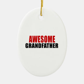 AWESOME GRANDFATHER CERAMIC OVAL DECORATION