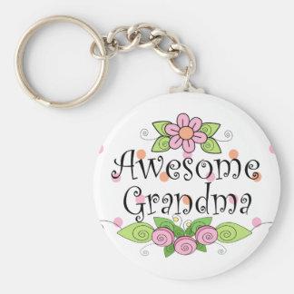 Awesome Grandma T-Shirt Keychain