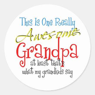 Awesome Grandpa Stickers