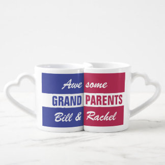 Awesome Grandparents - custom names - mug set