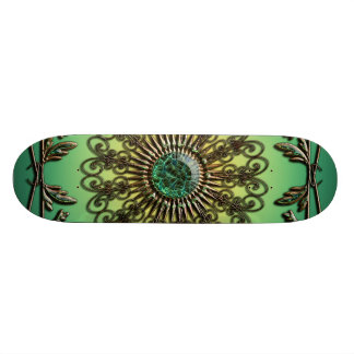 Awesome green diamond custom skate board
