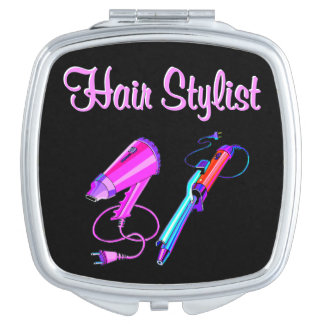 AWESOME HAIR STYLIST TEES AND GIFTS COMPACT MIRROR