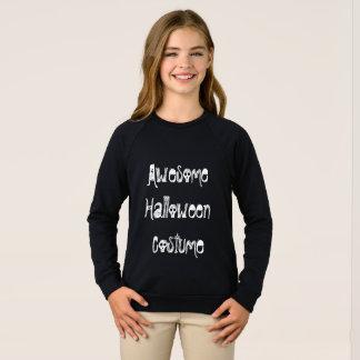 """""""Awesome Halloween Costume"""" Girls Sweatshirt"""