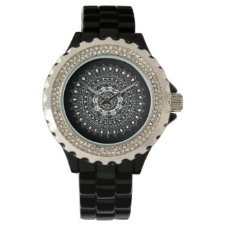 Awesome Hand Illustrated Artsy Floral Mandala Wrist Watch