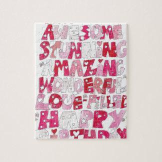 Awesome Happy Birthday Jigsaw Puzzle