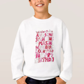 Awesome Happy Birthday Sweatshirt