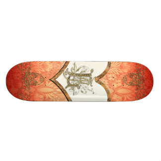 Awesome heart on soft background 21.6 cm old school skateboard deck