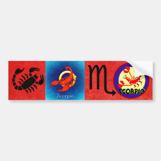 Awesome Horoscope Scorpio Zodiac Bumper Sticker