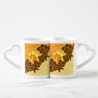 Awesome horse with vintage background lovers mug