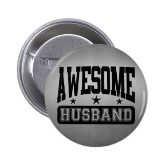 Awesome Husband 6 Cm Round Badge