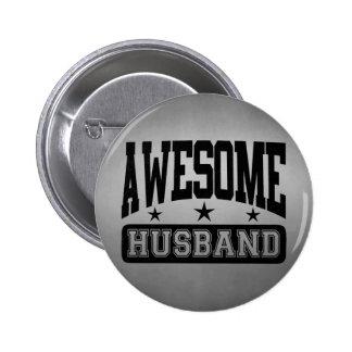 Awesome Husband 6 Cm Round Badge