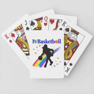 AWESOME I LOVE BASKETBALL DESIGN PLAYING CARDS