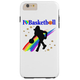 AWESOME I LOVE BASKETBALL DESIGN TOUGH iPhone 6 PLUS CASE