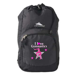 AWESOME I LOVE GYMNASTICS DESIGN BACKPACK