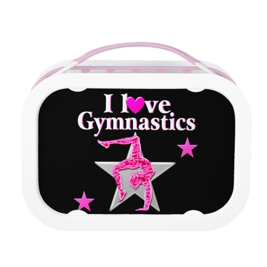 AWESOME I LOVE GYMNASTICS DESIGN LUNCH BOX