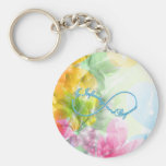 """Awesome Infinity symbol """"To infinity and beyond"""" Basic Round Button Key Ring"""