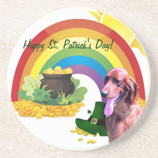 Awesome Irish Setter St. Patrick's Day Coaster