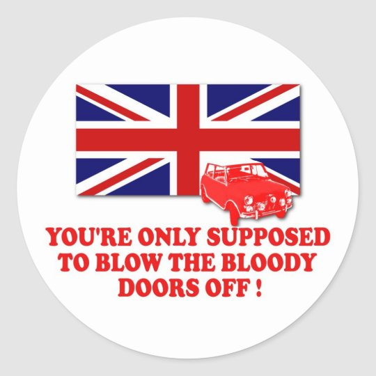 Awesome Italian Job Union Jack Classic Round Sticker