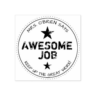 Awesome Job | Personalized Teachers Stamp