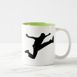 Awesome Jump Kick Two-Tone Coffee Mug