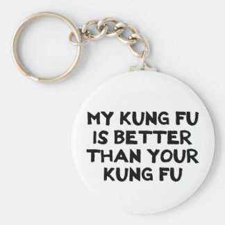 Awesome Kung Fu Button Basic Round Button Key Ring