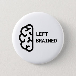Awesome Left Brained Button Pin