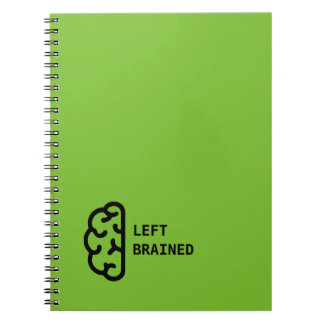 Awesome Left Brained Note Pad Spiral Notebook