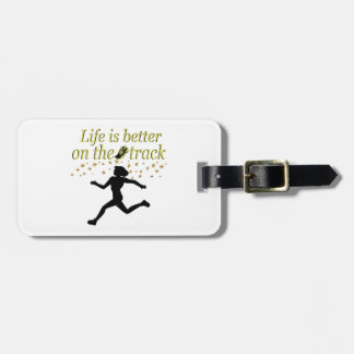 AWESOME LIFE IS BETTER ON THE TRACK DESIGN LUGGAGE TAG