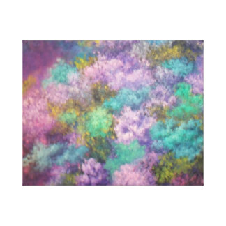 Awesome lilacs, oil painting, canvas wrap stretched canvas print