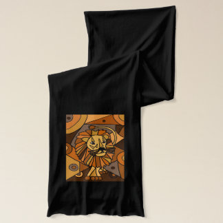 Awesome Lion Abstract Art Scarf