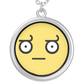Awesome Look of Disapproval Fave Round Pendant Necklace