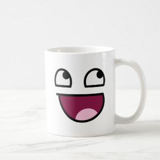 Awesome Lulz Smiley Face Basic White Mug