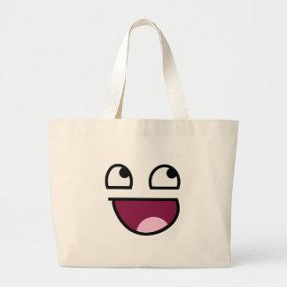 Awesome Lulz Smiley Face Jumbo Tote Bag