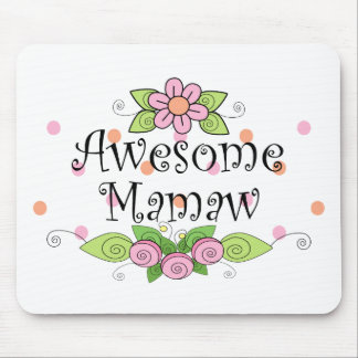 Awesome Mamaw T-Shirt Mouse Pad