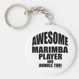 Awesome Marimba Player Key Ring