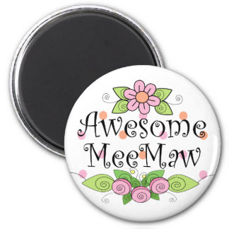 Awesome MeeMaw T-Shirt 6 Cm Round Magnet