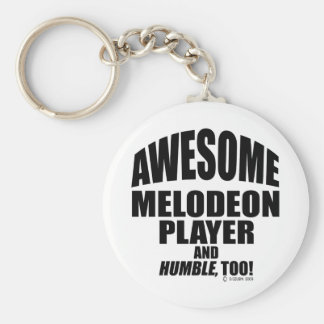 Awesome Melodeon Player Basic Round Button Key Ring