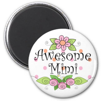 Awesome Mimi T-Shirt 6 Cm Round Magnet