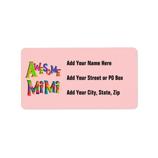 Awesome Mimi T-shirts and Gifts Address Label