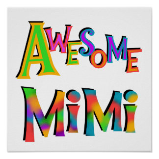 Awesome Mimi T-shirts and Gifts Poster